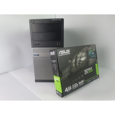 DELL OPTIPLEX 3020  Tower  4x ЯДЕРНЫЙ CORE I5 4570 8GB DDR3 500GB HDD 128GB SSD + Новая GTX 1050TI